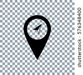 marker vector icon on... | Shutterstock .eps vector #576348400