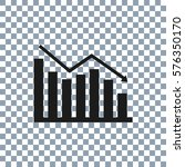 graph icon on transporent... | Shutterstock .eps vector #576350170