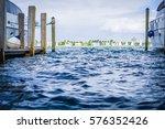 open boat dock | Shutterstock . vector #576352426