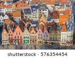 bruges  belgium   january 27 ... | Shutterstock . vector #576354454