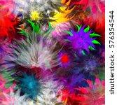 floral seamless pattern.... | Shutterstock .eps vector #576354544