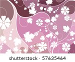 abstract floral mosaic... | Shutterstock .eps vector #57635464