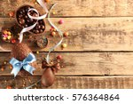 chocolate easter eggs with... | Shutterstock . vector #576364864