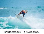 riding the waves. costa rica ...   Shutterstock . vector #576365023