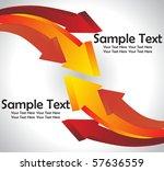 3d arrows  vector illustration | Shutterstock .eps vector #57636559