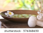 beautiful spa composition on... | Shutterstock . vector #576368650