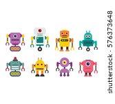 robot character vector... | Shutterstock .eps vector #576373648