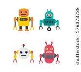 robot character vector... | Shutterstock .eps vector #576373738