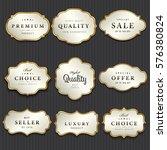 luxury premium pearl white and... | Shutterstock .eps vector #576380824