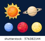 space planets star vector...