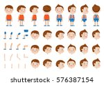 boys character creation set.... | Shutterstock .eps vector #576387154