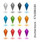 cartoon vector gems icons set...