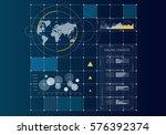 digital user interface . mixed... | Shutterstock . vector #576392374