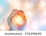 soft pastel orange lamp in... | Shutterstock . vector #576398650