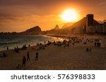 Sunset View In Copacabana Beac...