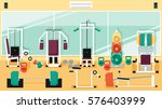 flat colorful gym | Shutterstock .eps vector #576403999