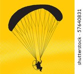 Silhouette Of A Parachutist