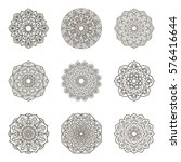 set of mandalas. ethnic... | Shutterstock .eps vector #576416644