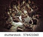 vintage traditional art... | Shutterstock . vector #576421060