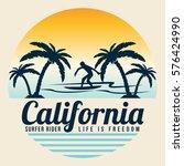 surf  surfing  water sport... | Shutterstock .eps vector #576424990
