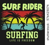 surf  surfing  water sport...   Shutterstock .eps vector #576425074