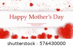 mothers day concept hand drawn... | Shutterstock .eps vector #576430000