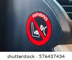 Small photo of air bag symbol in the car