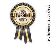 gold awesome quality rosette  ... | Shutterstock .eps vector #576437518
