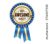 gold awesome quality rosette  ... | Shutterstock .eps vector #576437530