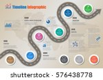 design template  road map... | Shutterstock .eps vector #576438778