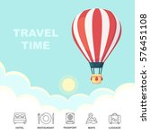 travel time  adventure. hot air ... | Shutterstock .eps vector #576451108
