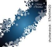 christmas border  snowflake... | Shutterstock .eps vector #576454420
