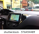 navigation system in car | Shutterstock . vector #576454489