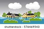 city   flood flooding water in... | Shutterstock .eps vector #576469543