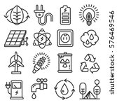 icons lines set collection eco... | Shutterstock . vector #576469546