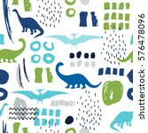 seamless pattern with cartoon... | Shutterstock .eps vector #576478096