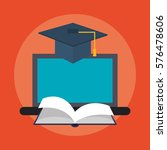 e learning education design   Shutterstock .eps vector #576478606