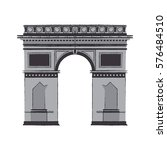 arc of triomphe icon | Shutterstock .eps vector #576484510