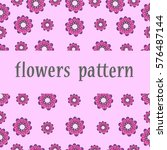 flowers. seamless texture with...   Shutterstock .eps vector #576487144