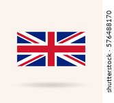 united kingdom or britain flag. ... | Shutterstock .eps vector #576488170