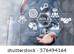 Small photo of Agile development software business web computer agility nimble quick fast start up concept