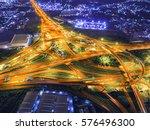 express way building in spider... | Shutterstock . vector #576496300