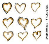 hearts icon with gold and dark...   Shutterstock .eps vector #576501208