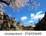 shirakawa komine castle and... | Shutterstock . vector #576503689