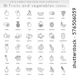 fruits and vegetables ultra... | Shutterstock . vector #576506059