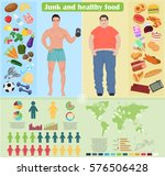 thin and fat guy man healthy... | Shutterstock . vector #576506428