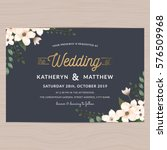 modern vintage save the date... | Shutterstock .eps vector #576509968