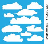 clouds vector collection... | Shutterstock .eps vector #576510130