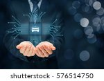 intelligent car  intelligent... | Shutterstock . vector #576514750