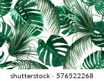 tropical palm leaves  jungle... | Shutterstock .eps vector #576522268